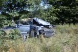 Poważny wypadek koło Głobina. Auto uderzyło w drzewo [ZDJĘCIA]