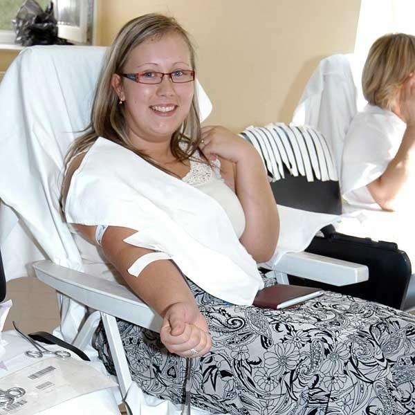 Danuta Homik, studentka II roku socjologii  oddała krew w sobotę w Tyczynie.