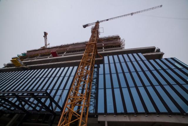 Budowa biurowca .KTW I w Katowicach