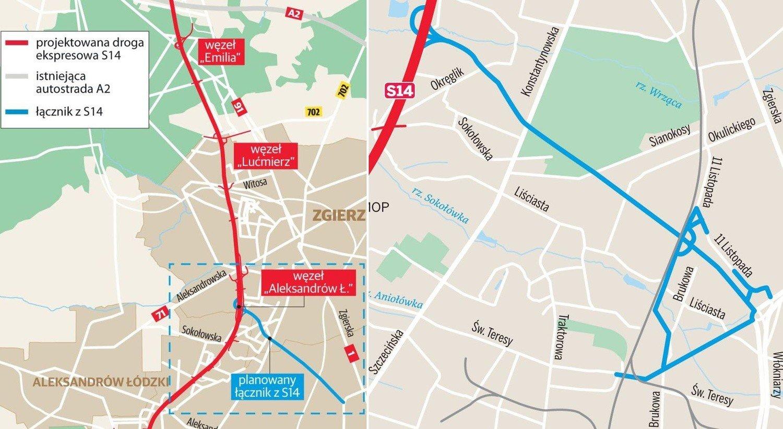 Wokol Trasy Ekspresowej S14 Powstana Zupelnie Nowe Drogi Mapa