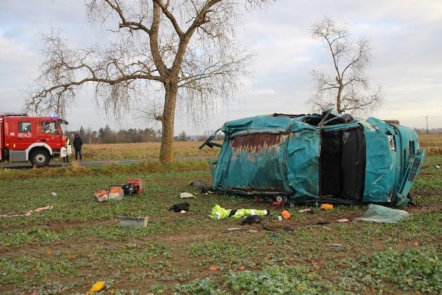 W wypadku w miejscowości Wieszki pod Nakłem życie stracił 48-letni mężczyzna