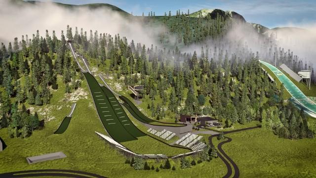 Tam w 2021 roku ma wyglądać kompleks małych i średnich skoczni w Zakopanem. W maju rozpocznie się ich modernizacja. Cała operacja pochłonie w sumie ponad 44 mln zł