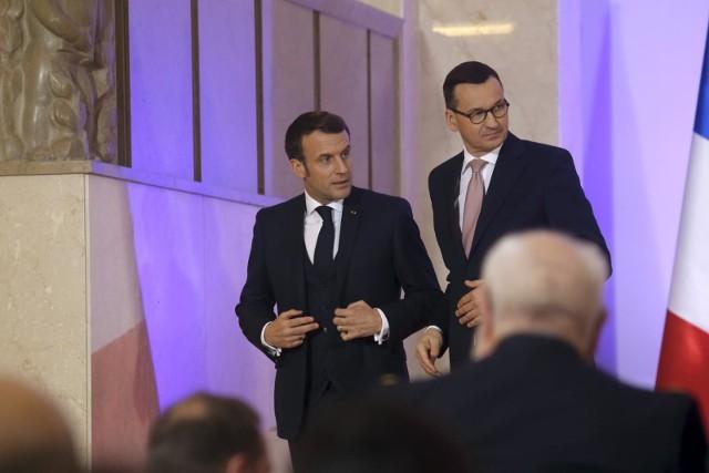 Premier Mateusz Morawiecki z wizytą w Paryżu. Spotkał się z prezydentem Francji Emmanuelem Macronem