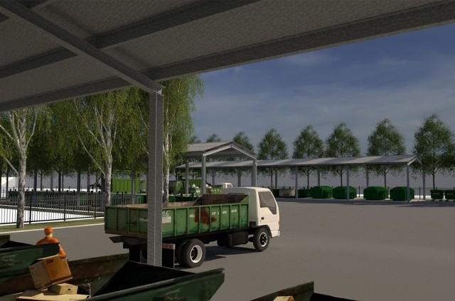 Tak ma wyglądać zmodernizowany Punkt Selektywnej Zbiórki Odpadów Komunalnych przy ul. Cegielnianej w Gdowie. Inwestycja warta ok. 1,7 mln zł ma zostać wykonana do jesieni 2021