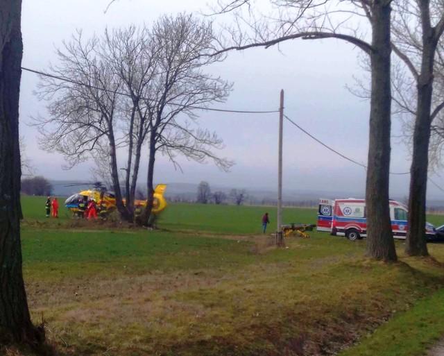 Do wypadku doszło około 10.15 na drodze wojewódzkiej nr 419 między Branicami a Niekazanicami
