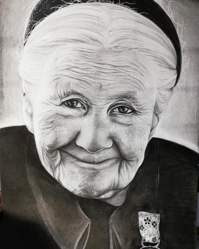 Portret Ireny Sendlerowej autorstwa Pauliny Uklei