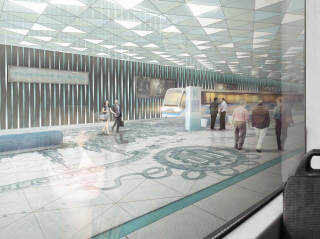 Tak według krakowskiego architekta Przemysława Tabora mógłby wyglądać przystanek metra przy Dworcu Głównym. Wizualizacja: Przemysław Tabor/URBAarchitects.