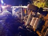 Łużna. Wywrócił ciężarówkę by ocalić jadących fiatem [ZDJĘCIA, WIDEO]
