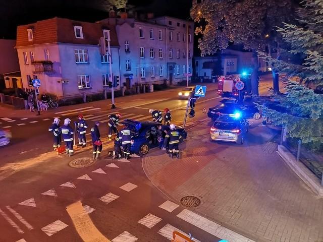 Zderzenie aut przy ul. Gdańskiej w Chojnicach