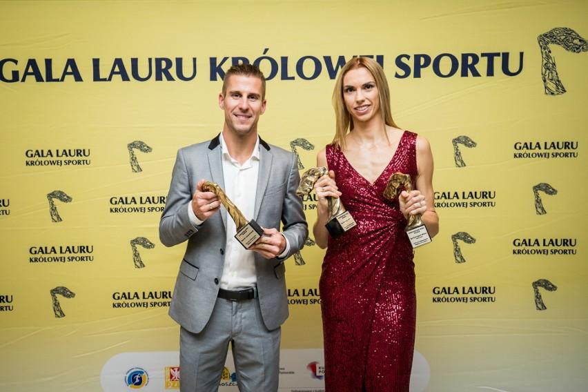 Iga Baumgart-Witan i Marcin Lewandowski odebrali nagrody podczas Gali Lauru Królowej Sportu w Bydgoszczy