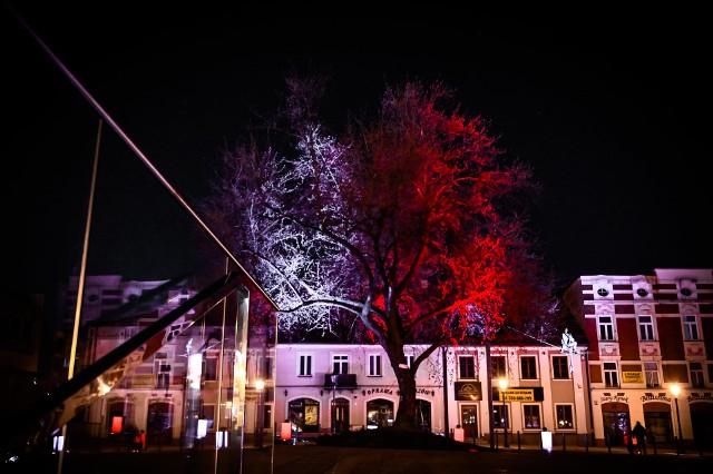 Z okazji majowych świąt Stary Rynek w Częstochowie został podświetlony na biało-czerwonoZobacz kolejne zdjęcia. Przesuwaj zdjęcia w prawo - naciśnij strzałkę lub przycisk NASTĘPNE