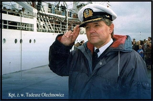 Kapitan Tadeusz Olechnowicz był pierwszym kapitanem Daru Młodzieży