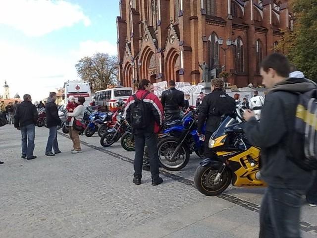 Motocykliści uczestniczyli w mszy św. w katedrze