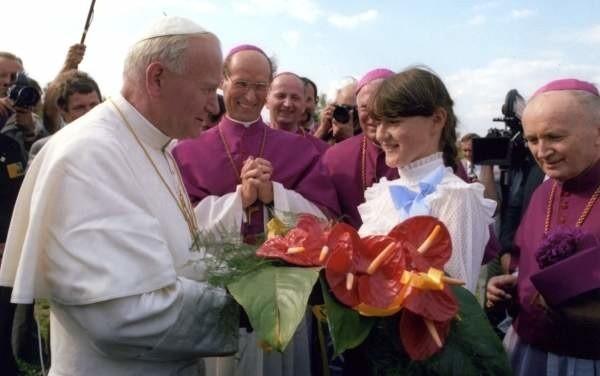 Jan Paweł II na Górze św. Anny (czerwiec 1983 roku).