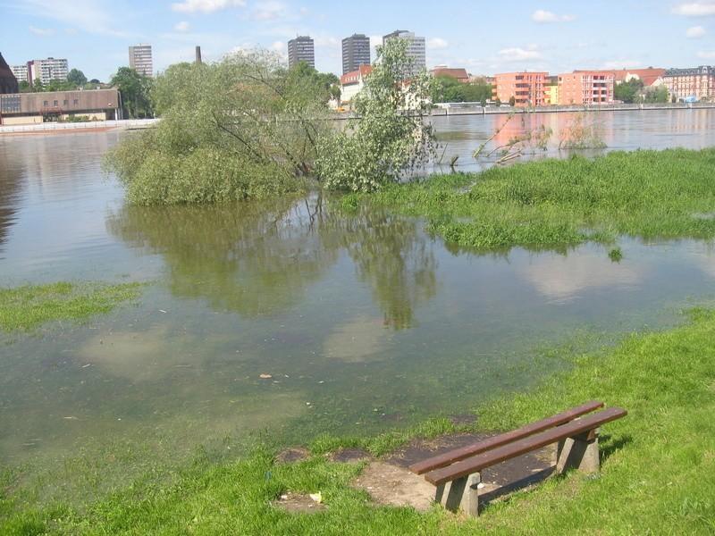 W Słubicach woda w Odrze ma teraz prawie 4,5 m i sięga podstawy wałów.