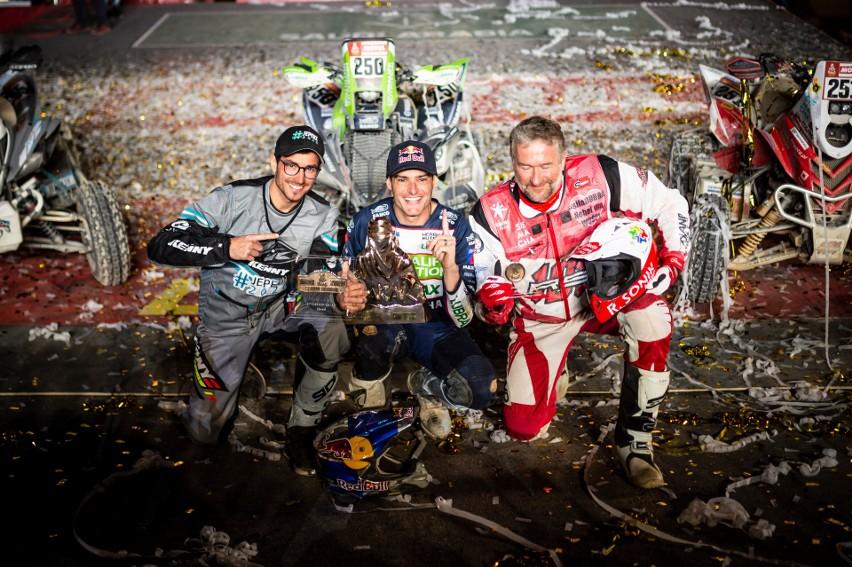Quadowcy dali czadu na finiszu Rajdu Dakar. Rafał Sonik zatrzymał się na podium