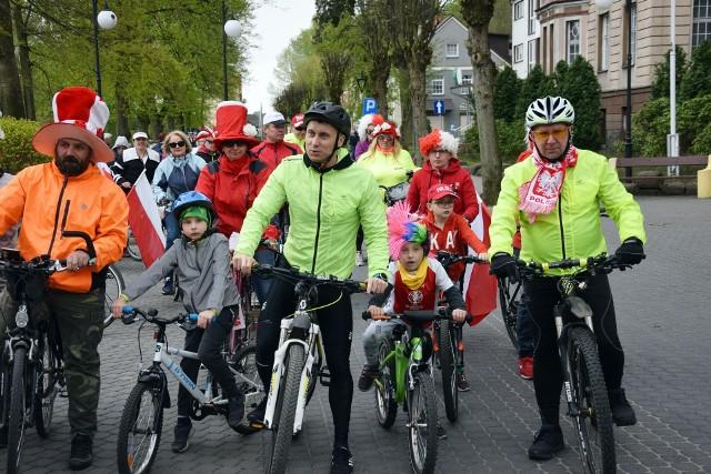 W piątek w Miastku MTS Hamer zorganizował rodzinny rowerowy Rajd z Flagą