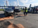 Groźny wypadek w Opolu. Trzy samochody zderzyły się w okolicy elektrowni. Dwie osoby zostały ranne