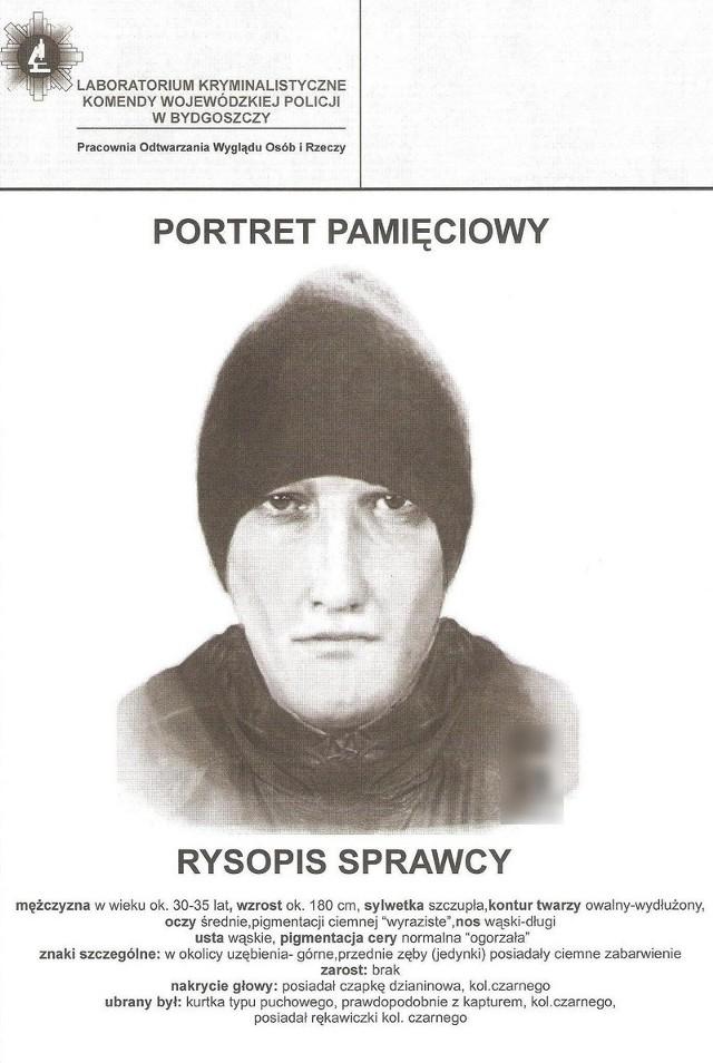 Policja opublikowała portret pamięciowy podejrzanego o napad na Lotto