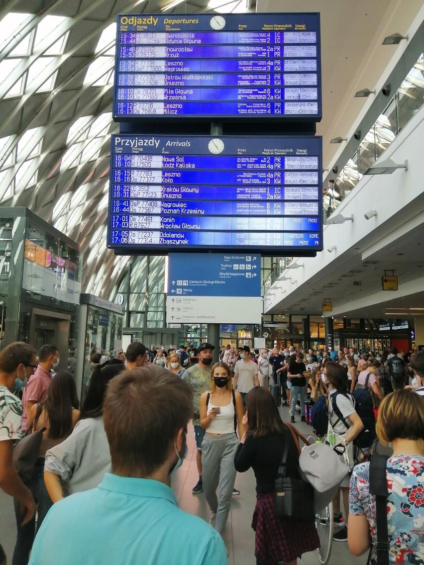 W piątkowe popołudnie doszło do awarii na stacji Poznań...