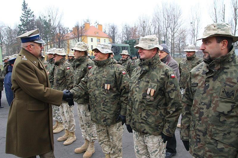 wita żołnierzy IX zmiany.