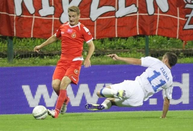 Patryk Stępiński w tym sezonie zagrał w czterech meczach Widzewa.