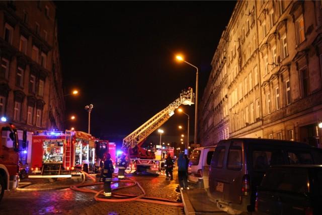 Pożar kamienicy na św. Wincentego we Wrocławiu (zdjęcie ilustracyjne)