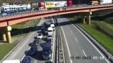 Dwa zderzenia z udziałem 3 aut na Obwodnicy Trójmiasta. 11.05.2021 r. 1 osoba ranna. Możliwe utrudnienia w ruchu