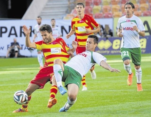 Dani Quintana (z piłką) odszedł z Jagiellonii niespełna pół roku temu. Teraz jest spora szansa, by hiszpański pomocnik wrócił do Białegostoku.