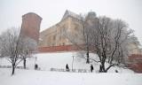 Sypnęło śniegiem w Krakowie [NOWE ZDJĘCIA]
