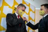 Szymon Hołownia w Białymstoku. Radny sejmiku Maciej Żywno dołączył do Polski 2050 Hołowni (zdjęcia)