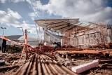 ŁKS - stadion. 300 betonowych słupów [ZDJĘCIA]