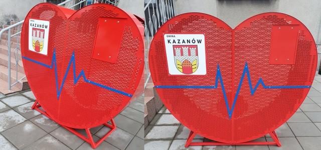 Przed Urzędem Gminy w Kazanowie stanęło eko serce.