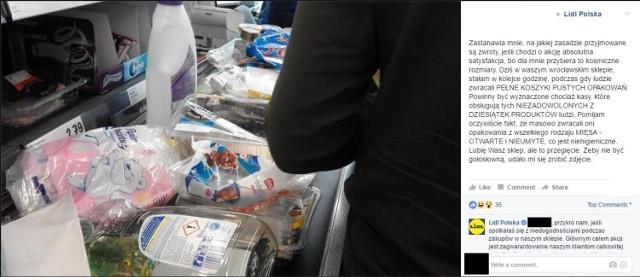 """""""Słyszałem, że Lidl zamienił się w sortownie śmieci"""" - kpią internauci. Wszystko przez promocje wprowadzoną przez tę sieć sklepów. Akcja """"Sprytnie i tanio kupować marki Lidla"""" zamieniła się w masową akcję oddawania pustych opakowań po produktach zakupionych w markecie. Klienci potrafią rozpakowywać towary jeszcze na parkingu i po kilku minutach oddawać całe wózki pustych opakowań za setki złotych. Fanpage Lidla został wręcz zasypany komentarzami zdegustowanych klientów. Powstaje też coraz więcej memów. Zobaczcie sami!"""