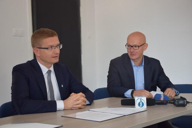 Konferencja prasowa prezydenta Krzysztofa Matyjaszczyka