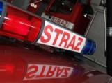 Samochód w płomieniach na Wróblewskiego