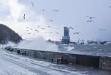 Silny wiatr i sztorm na Pomorzu