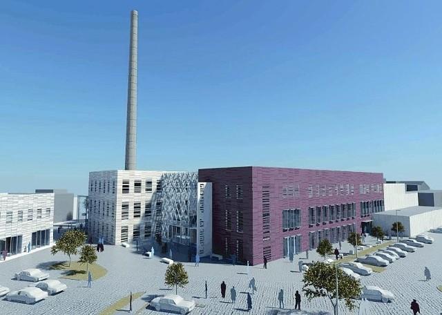 Oto wizualizacja projektu adaptacji dawnych obiektów Wełny przy Podwalu. Już w przyszłym roku powstanie tu galeria handlowa (fot. Archiwum)