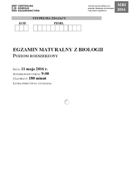 """Matura BIOLOGIA 2016 rozszerzona: co było? Arkusz CKE, Odpowiedzi """"Było łatwiej niż w zeszłym roku"""""""
