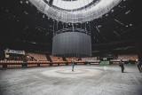 Katowice. Jest już nowy ekran w Spodku. Składa się z 264 paneli i waży 1650 kg. Został podwieszony pod kopułą hali