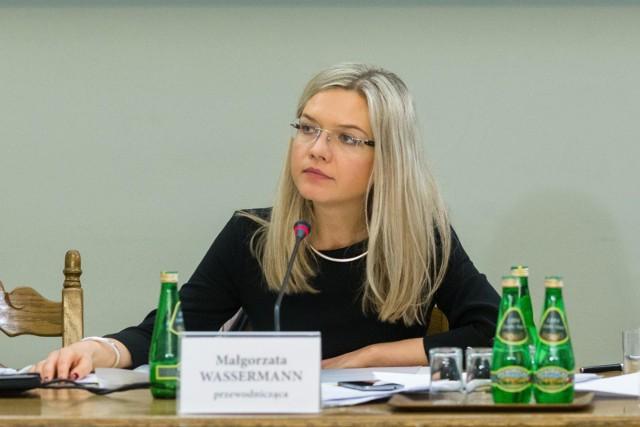 Przewodnicząca sejmowej komisji ds. Amber Gold, Małgorzata Wassermann