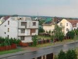 Siemiatycze. Zerwane dachy przy Drohiczyńskiej, biały szkwał na Mazurach (zdjęcia)