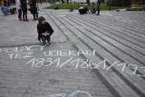 Kryzys na granicy budzi emocje. Lewicowe młodzieżówki protestowały za pomocą kredy. O potencjalnych terrorystach mówi Młodzież Wszechpolska