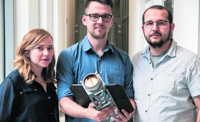 Założyciele start-upu Scanway. Od lewej: Dorota Budzyń, Michał Zięba, Jędrzej Kowalewski