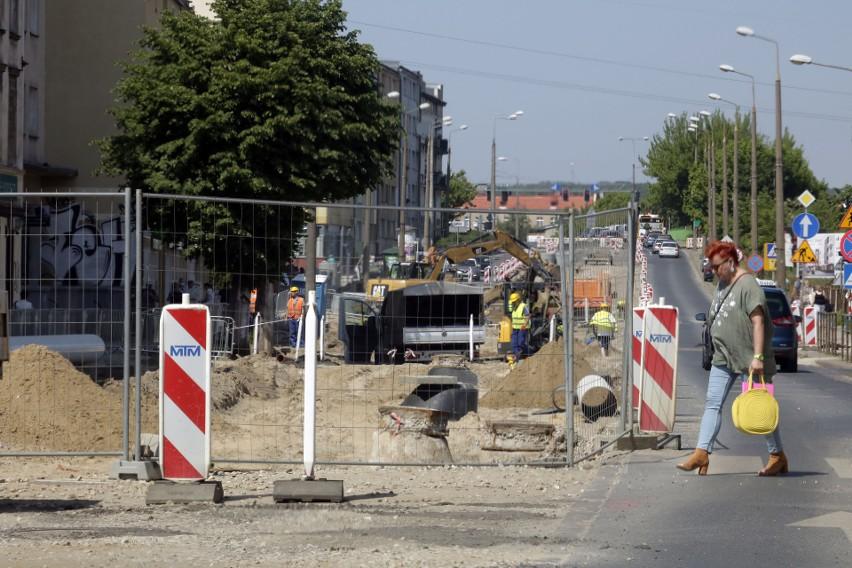 Modernizacja sieci torowisk tramwajowych w Grudziądzu....