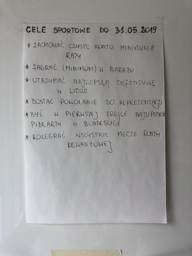 Lista celów Rafała Gikiewicza