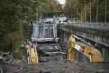 Katastrofa budowlana w Koszalinie. Runęła nitka wiaduktu w Alei Monte Cassino