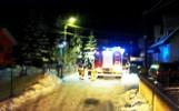 Nocny pożar w Muszynie. Do ognia strażaków dowozili GOPR-owcy