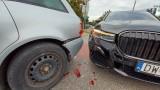 Wypadek BMW i audi na Armii Krajowej. Jedna osoba trafiła do szpitala (ZDJĘCIA)