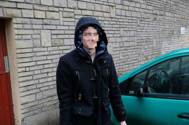 Adam Z. po opuszczeniu aresztu